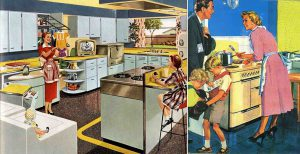 """""""The way of life"""", 1950. Familia """"tipo"""" y vivienda estándar. Modelos de la era del fordismo. Fuente: blogosferia"""
