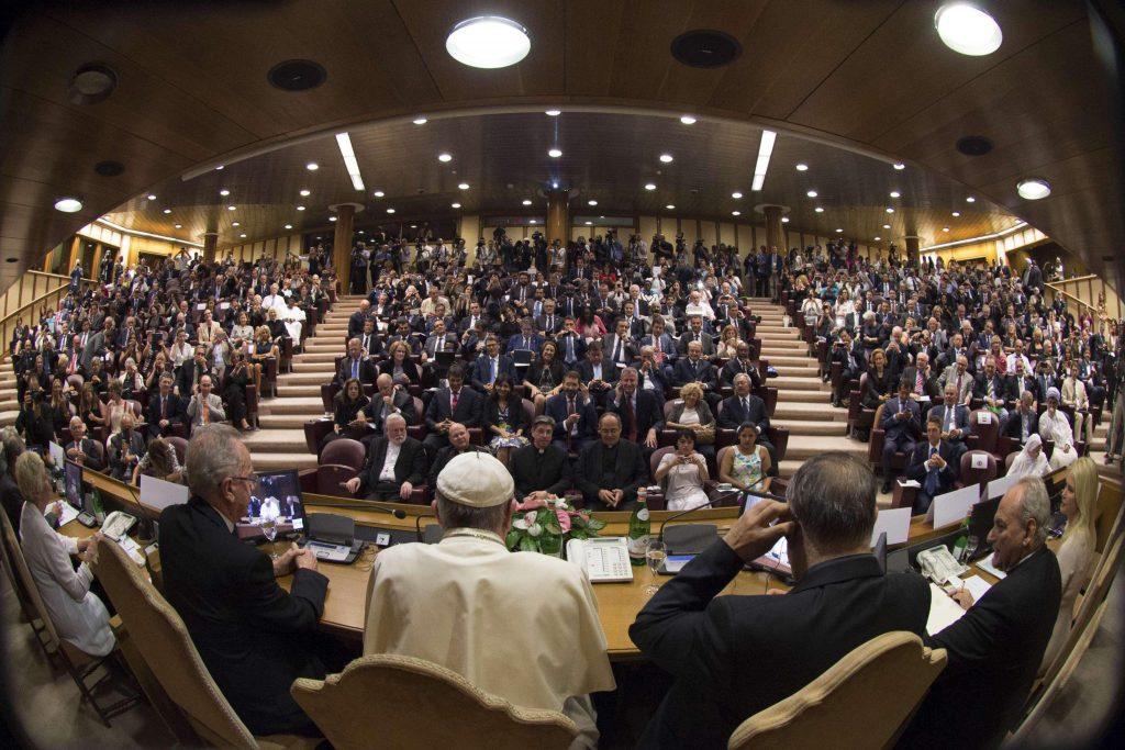 Reunión del Papa Francisco en 2015 con setenta alcaldes del mundo en El Vaticano.