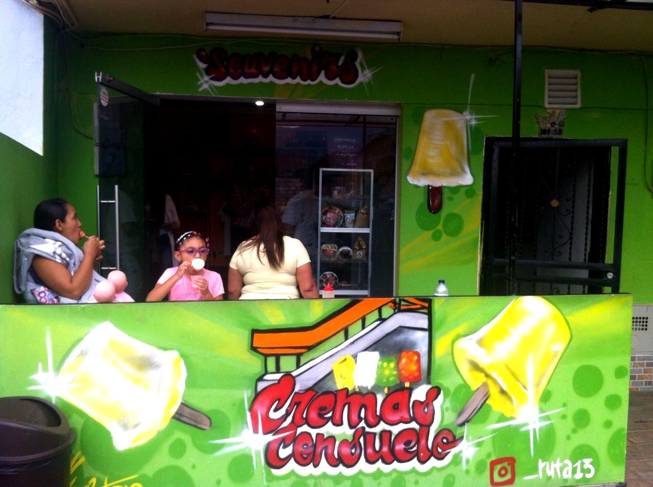 No se puede decir que se recorrió el Graffitour sin probar las ya emblemáticas cremas de mango 'biche' con sal y limón.