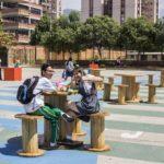 Otra intervención en Bucaramanga: la Calle de los Estudiantes y la nueva Calle de las Letras, en inmediaciones del Instituto Municipal de Cultura de Bucaramanga.