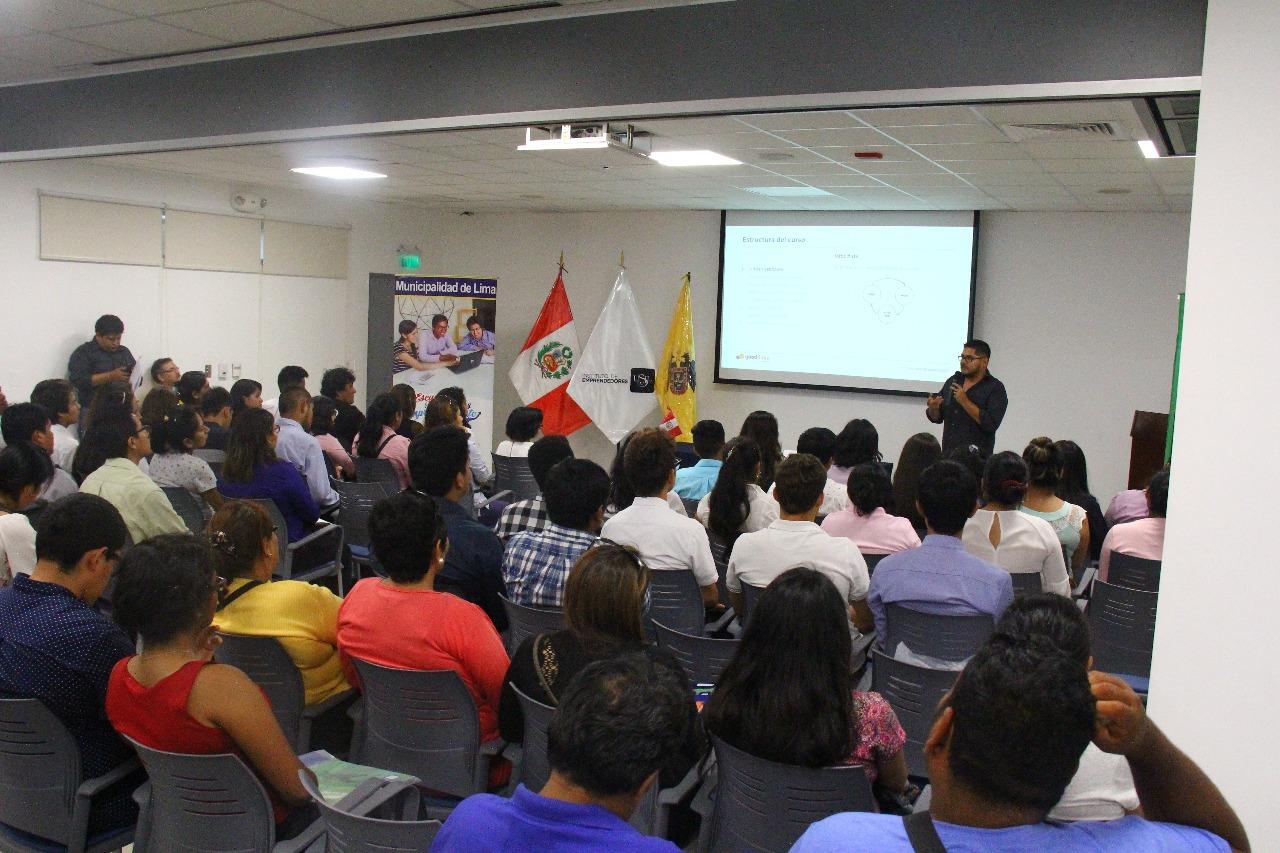 Lima apoya las ideas de negocio de jóvenes emprendedores