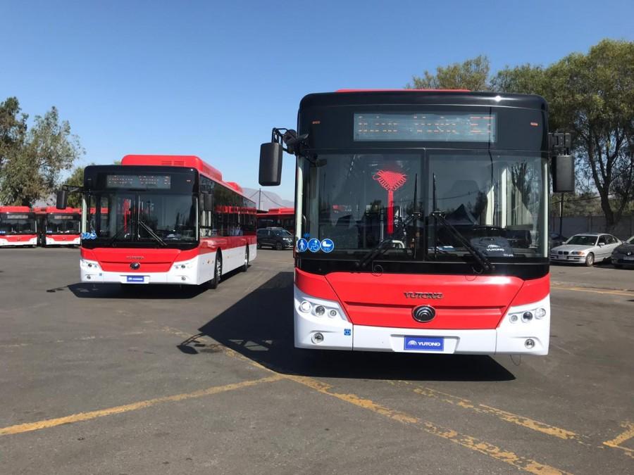 100 nuevos buses llegaron para el transporte público de la RM de Santiago