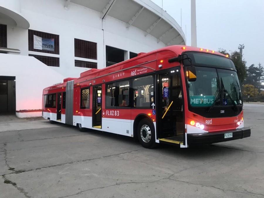 Región Metropolitana de Santiago tiene nuevo bus eléctrico articulado