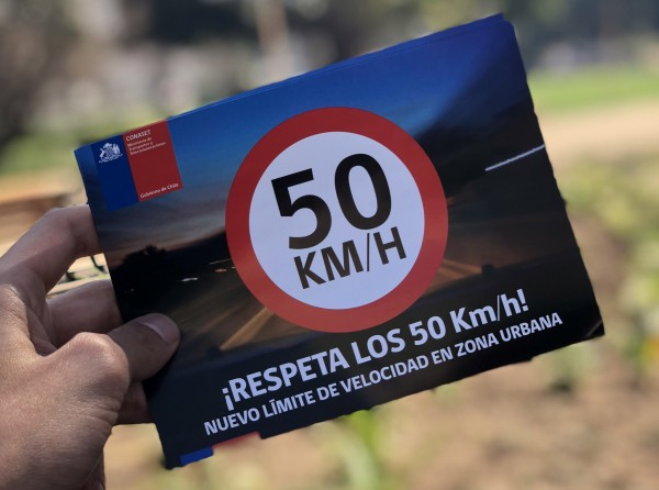 Disminuyen lesiones y muertes por reducción de velocidad en Chile