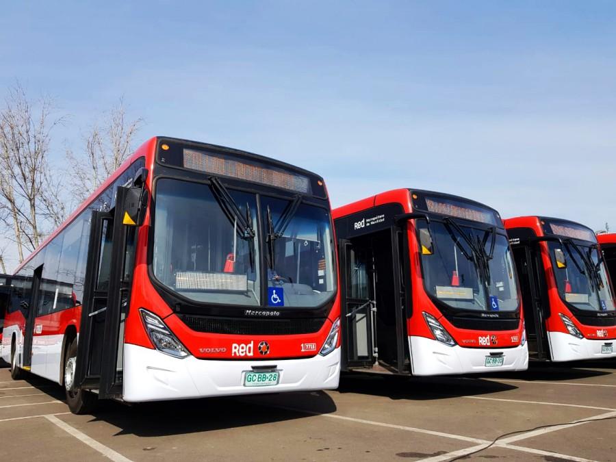 Santiago sumó 120 nuevos buses ecológicos
