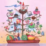 """Enzo Péres-Labourdette es un galardonado ilustrador que vive en Ámsterdam. Sobre su dibujo afirma que """"Todos necesitamos empezar a ver la Tierra como una nave nodriza que compartimos y donde a través del espacio y el tiempo la convertimos en un ser autosuficiente y ajustado a nuestras dietas basadas en vegetales y cero carne""""."""