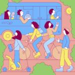 Martina Paukova nació en Eslovaquia. Hoy vive en Londres. Su ilustración se concentra en cómo con pequeños actos como usar la bicicleta, compartir el auto o usar el transporte público, podemos ayudar a disminuir la huella de carbono.
