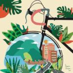 Linoca Souza, nació y vive en la ciudad de Sao Paulo (Brasil). Es ilustradora y artista visual y nos muestra una ciudad que promueve la movilidad sostenible.