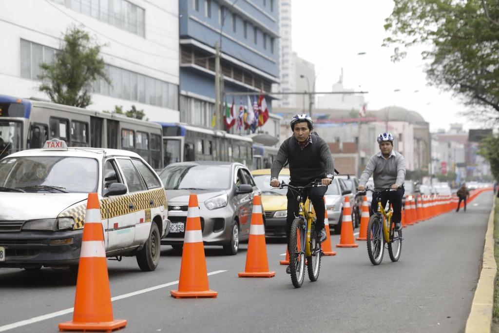 Lima realizará nueva prueba de carril segregado para ciclistas