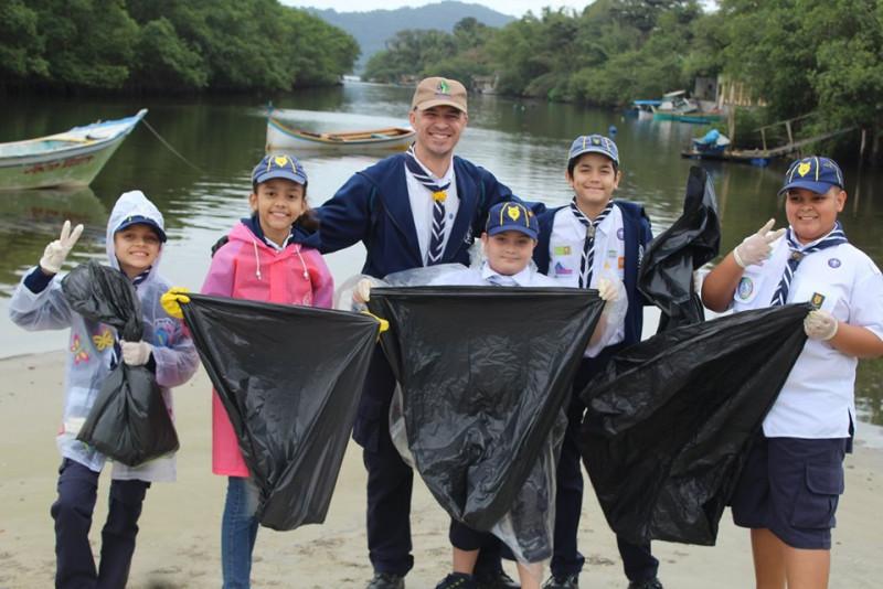 Scouts de Latinoamérica se unen por los Mares Limpios