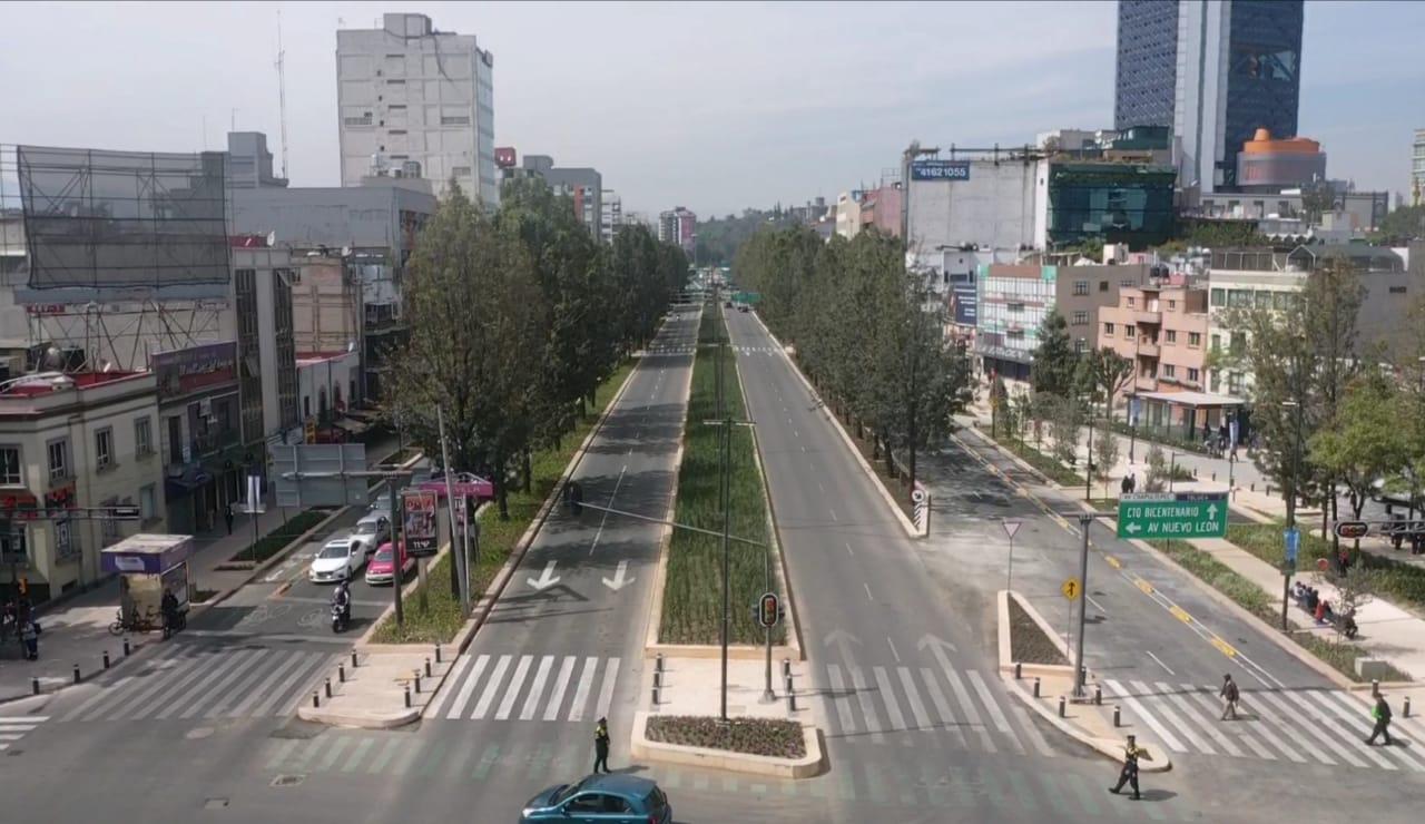 Avenida Chapultepec en la CDMX fue renovada