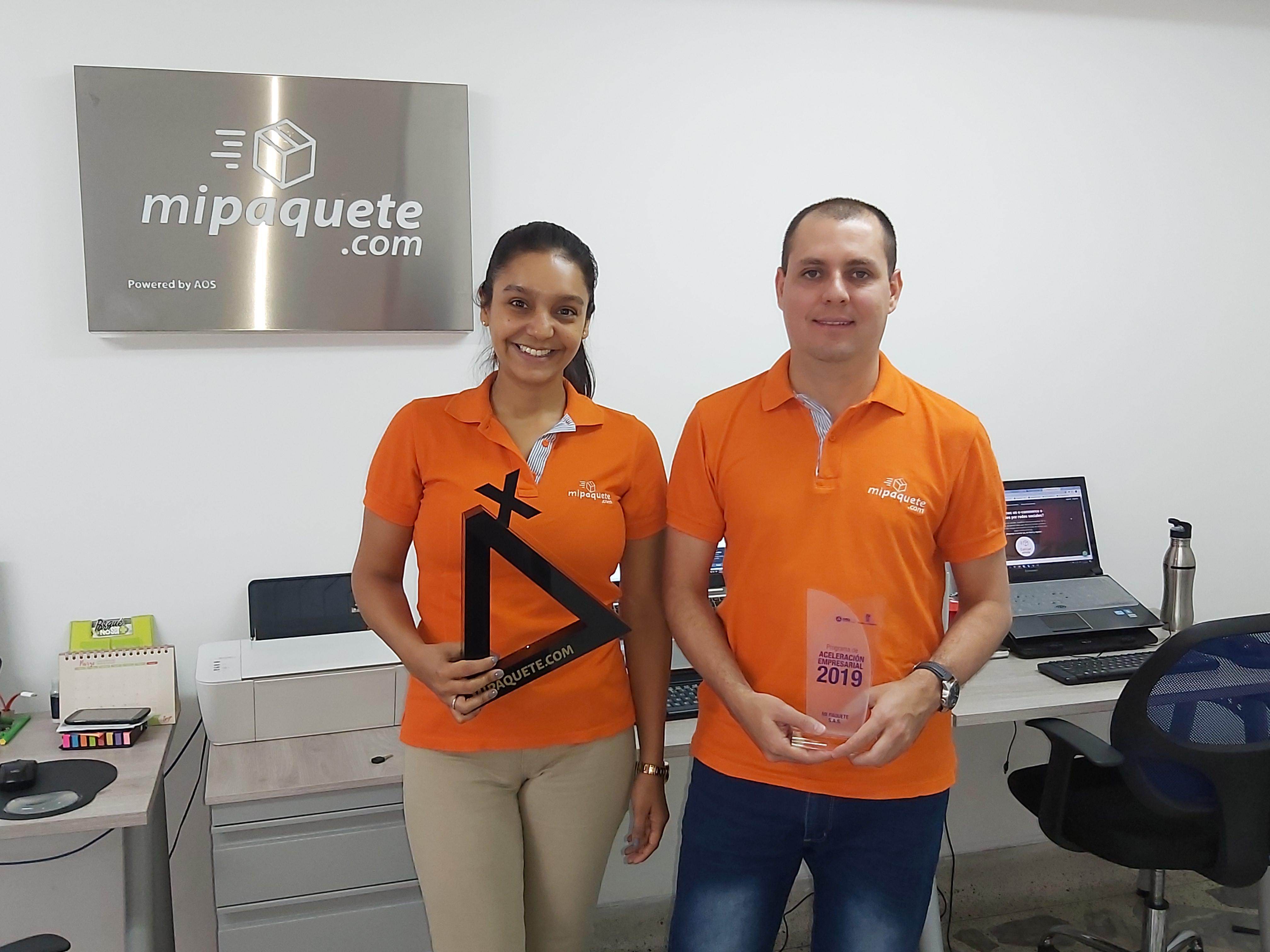 Los emprendedores como Carolina Ruiz y Sergio Vargas, fundadores de mipaquete.com, han sido reconocidos por organizaciones públicas y privadas del ecosistema de emprendimiento colombiano.