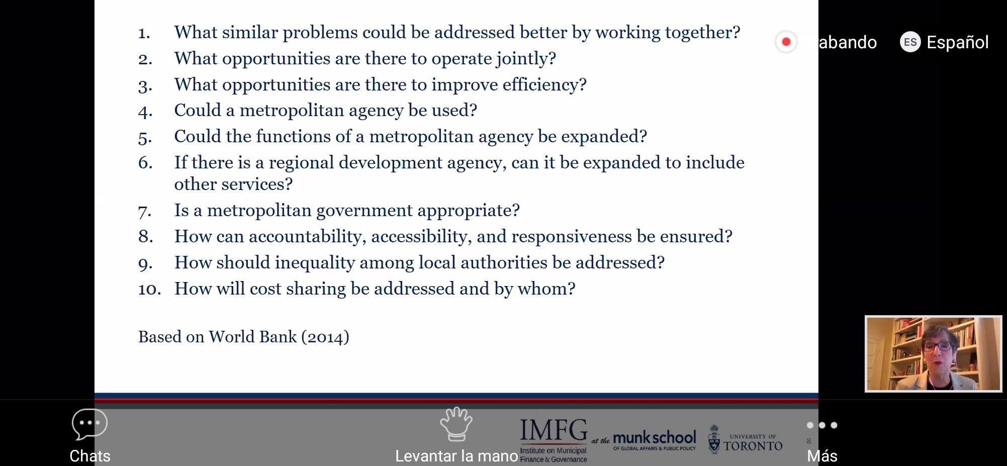 Gobernanza metropolitana es la clave para el desarrollo y respuesta ante COVID-19