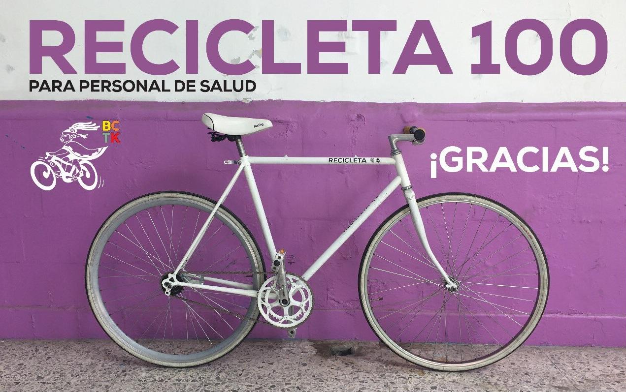 Bicitekas y Alcaldía de la Bici de CDMX entregan la número 100 a personal médico
