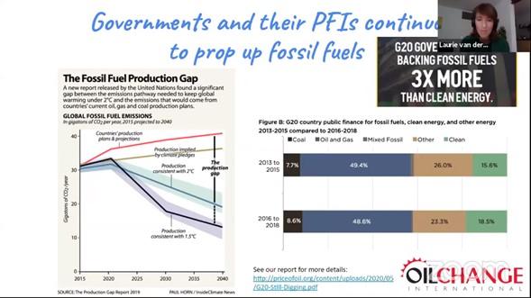 Ciudadanos piden a banca pública que deje de financiar proyectos de combustibles fósiles