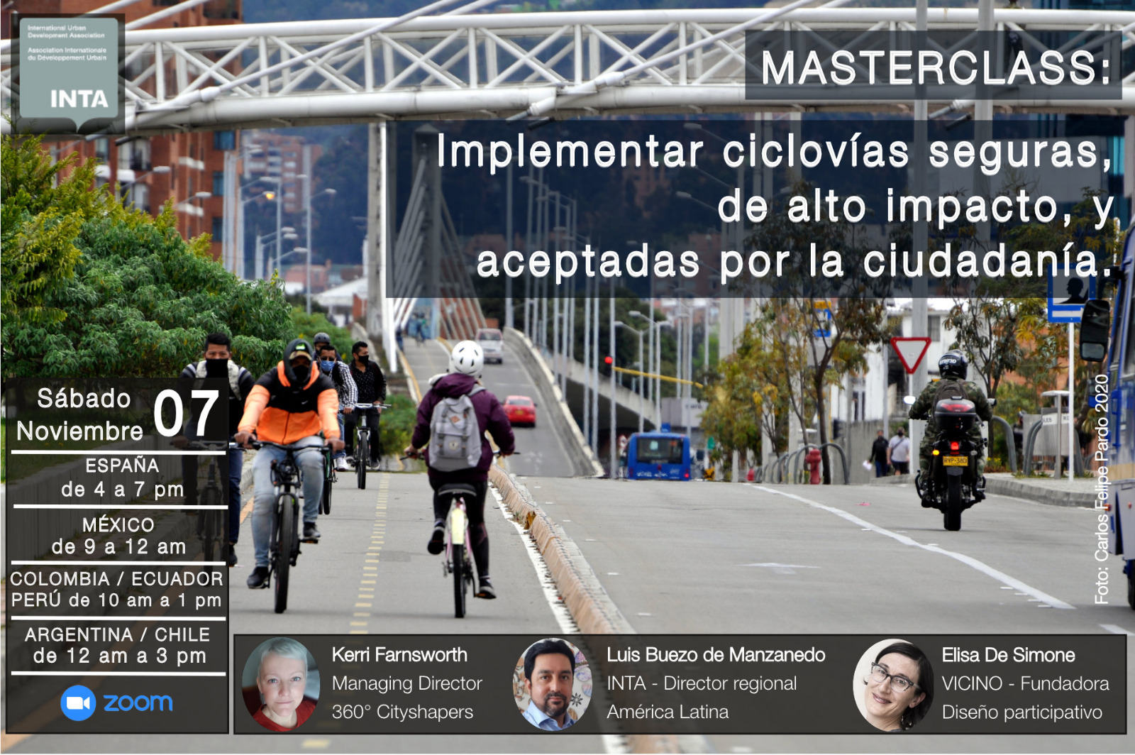 ¿Qué requiere una ciclorruta exitosa? Tres expertos responderán a los planificadores latinoamericanos