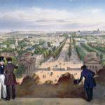 En 1834, el arquitecto Mariano Ruiz de Chávez recibió el encargo de rediseñar la Place de la Concorde y los jardines de los Campos Elíseos. Mantuvo los jardines formales y los parterres esencialmente intactos, pero convirtió el jardín en una especie de parque de atracciones al aire libre. Litografía de Félix Benoist,1850