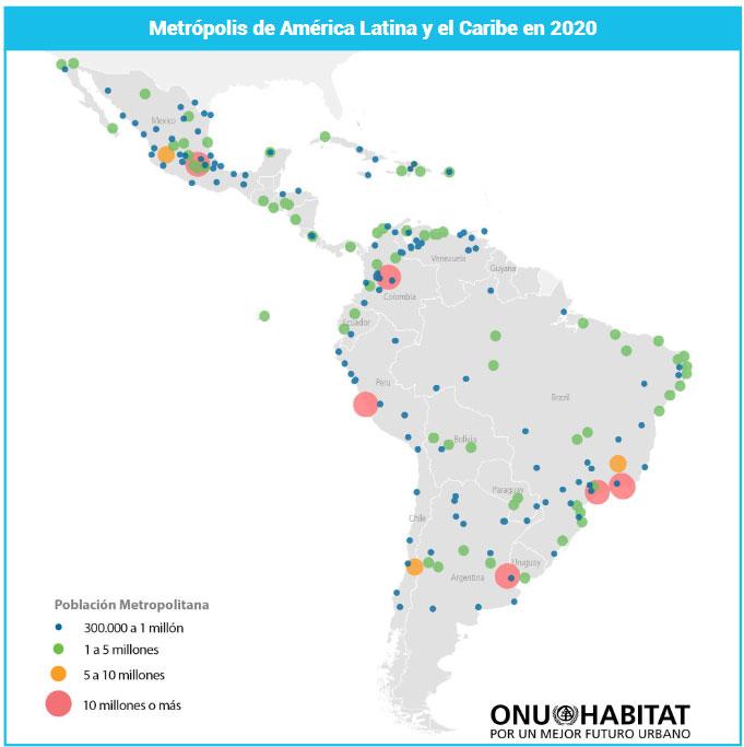 ¿Cuántas ciudades tiene hoy América Latina?