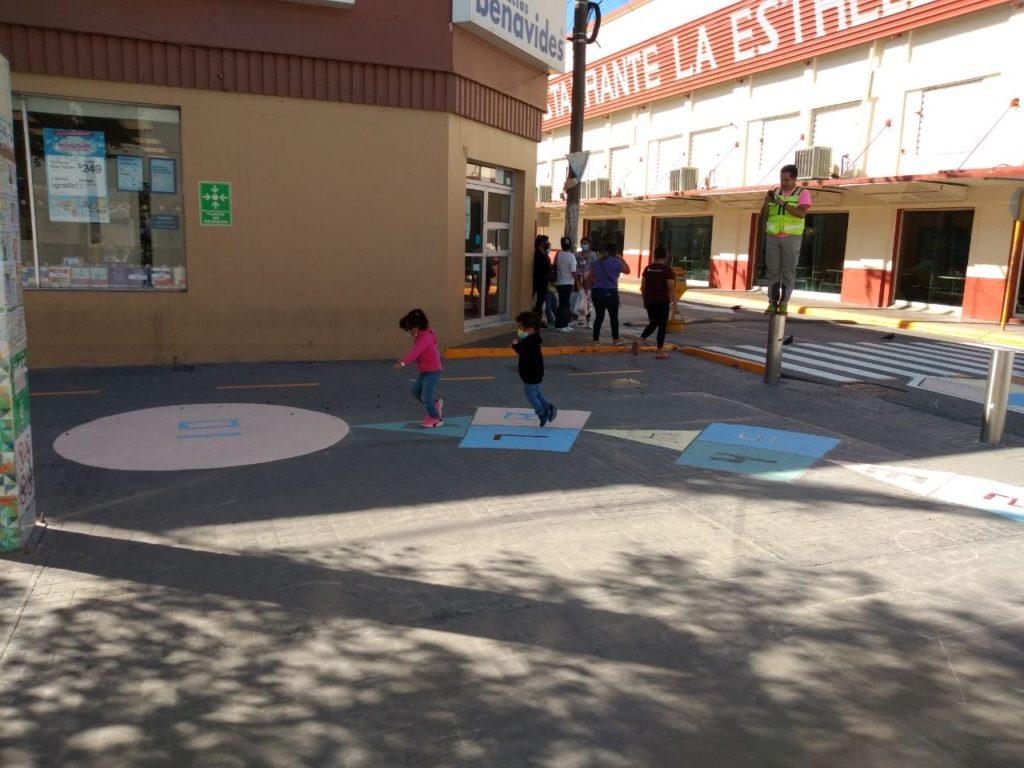 Rayuelas creadas con niñas y niños de Reynosa, en colaboración con Fundación Placemaking México, ONU-Hábitat e IMPLAN Reynosa en 2020.