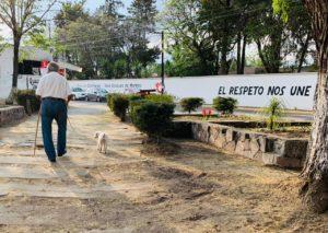 Los vecinos ahora transitan con mayor tranquilidad por el parque Valle de México, en Cuautitlán Izcalli, Estado de México. Abril 2021.
